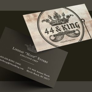 44 King Business Card